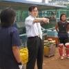 専門学校女子ソフトボール部の練習 視察