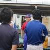 専門学校硬式野球部の練習 視察