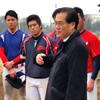 高校・専門 野球部の年明け初練習を視察しました